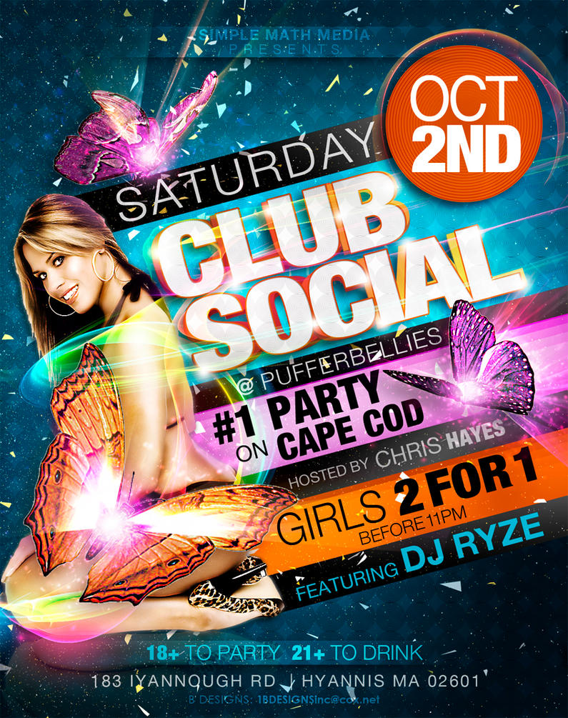 Club Social Flyer 2 by AnotherBcreation on DeviantArt – Club Flyer