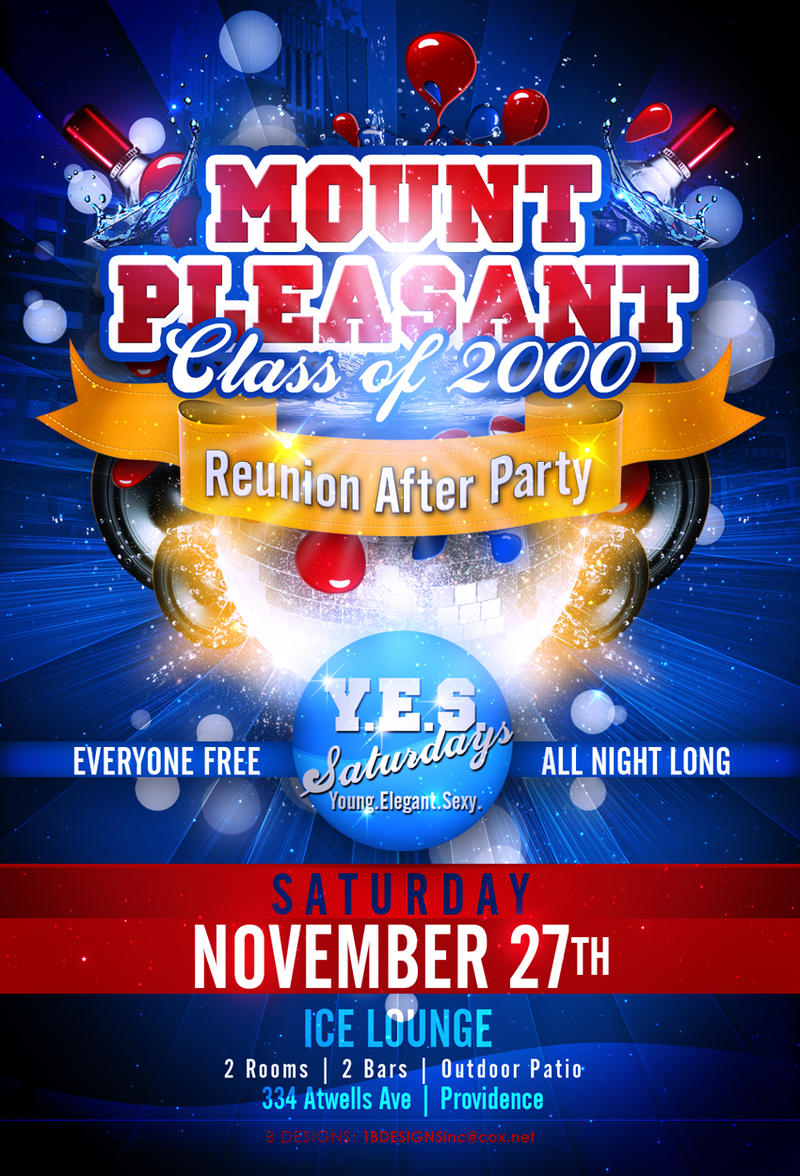 Mt. Pleasant Reunion Flyer by AnotherBcreation on DeviantArt