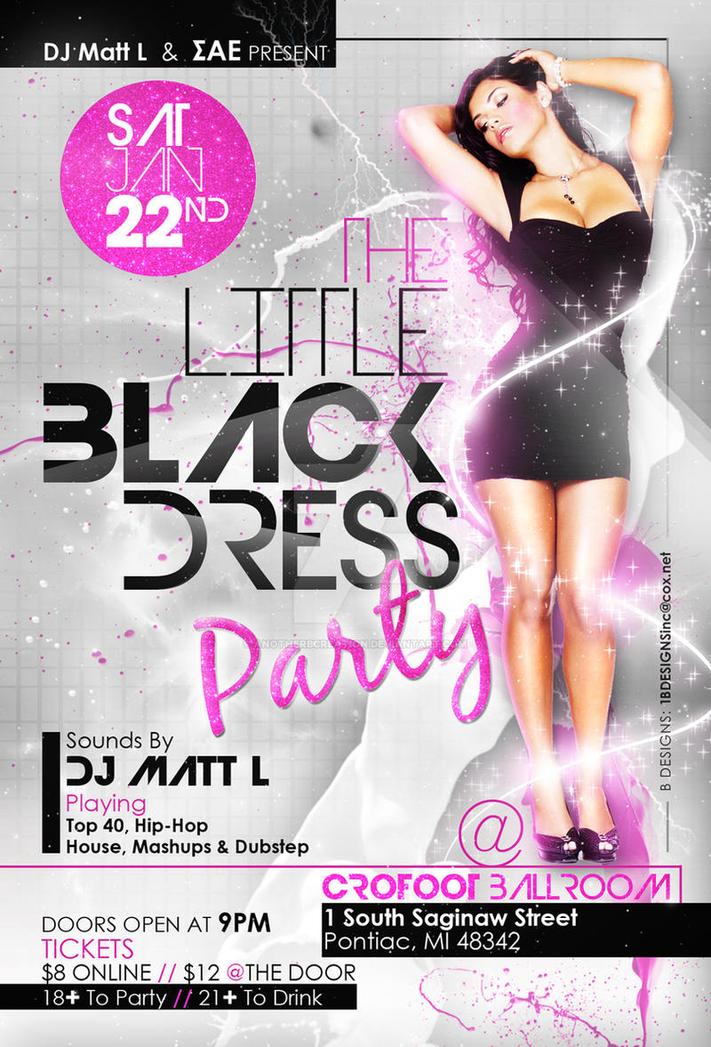 Black Dress Party Flyer