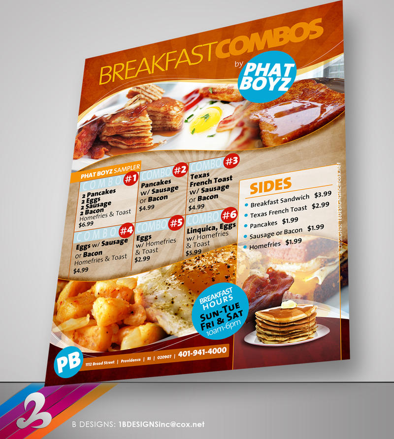 Breakfast Menu Flyer Template By Anotherbcreation On Deviantart