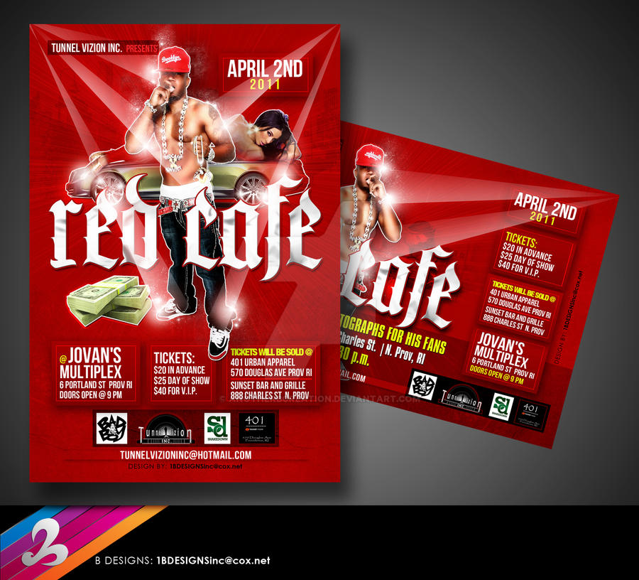 Red Cafe Flyer by AnotherBcreation