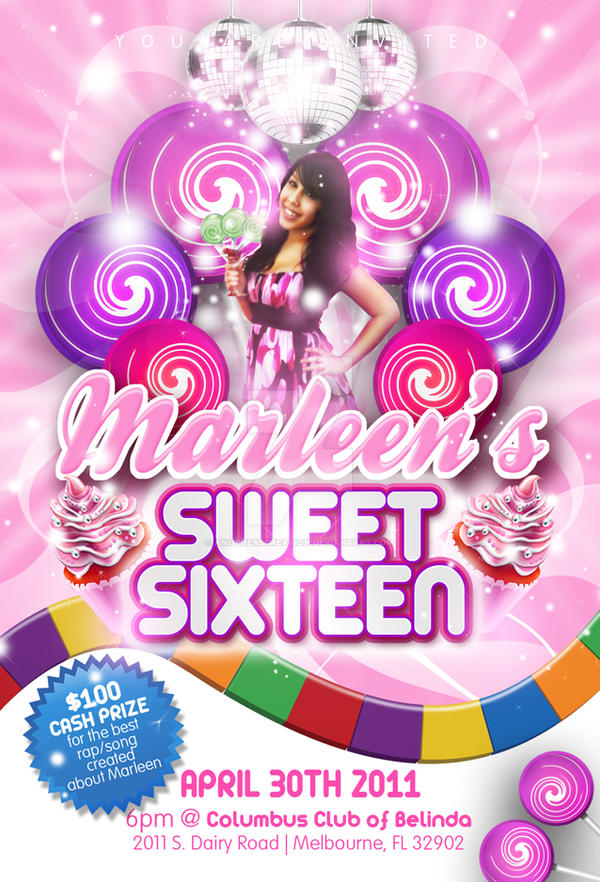 Candy Land Invitation Flyer by AnotherBcreation