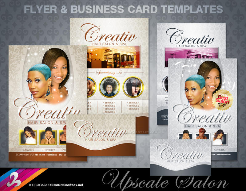 Salon Flyer And Bc Templates By Anotherbcreation On Deviantart