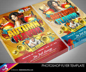 Autumn Flavor Flyer Template by AnotherBcreation