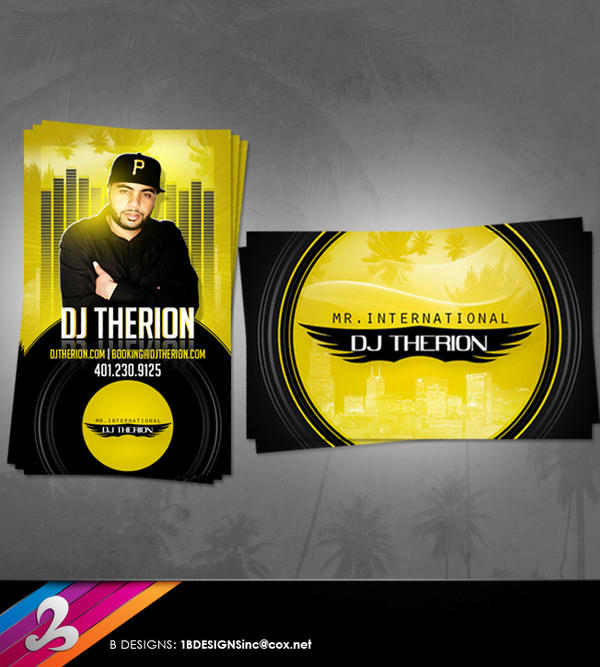 Dj Therion Business Card By Anotherbcreation On Deviantart
