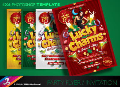 Lucky Charms Flyer Template by AnotherBcreation