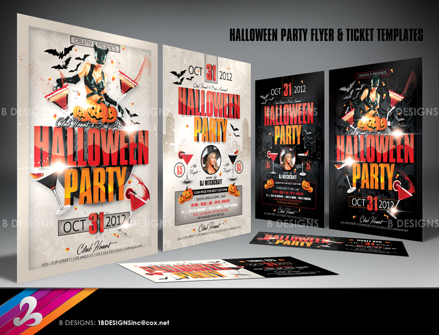 Halloween Party Flyer and Ticket Templates by AnotherBcreation on – Party Tickets Templates