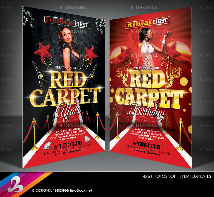 Red Carpet Party Flyer Templates