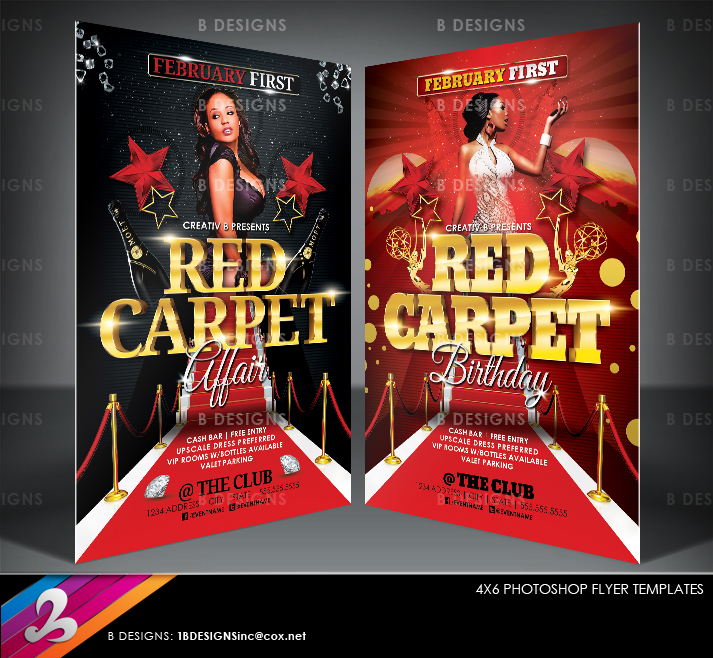 Red Carpet Party Flyer Templates By Anotherbcreation On