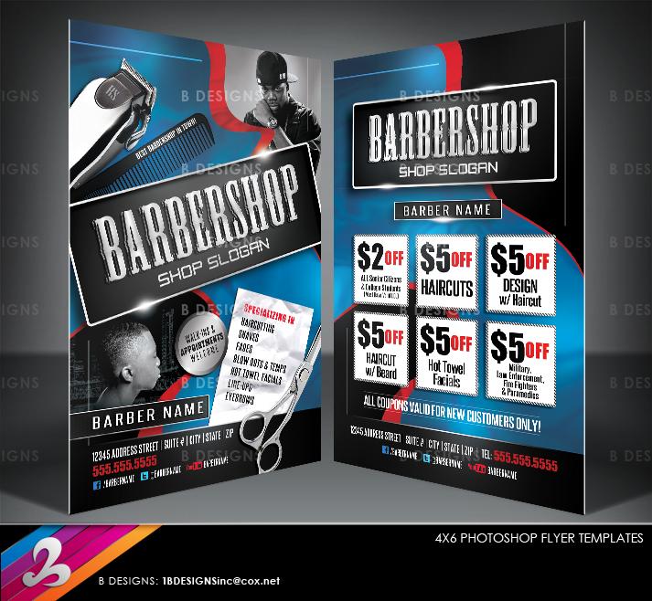 barbershop flyer templates by anotherbcreation on deviantart. Black Bedroom Furniture Sets. Home Design Ideas