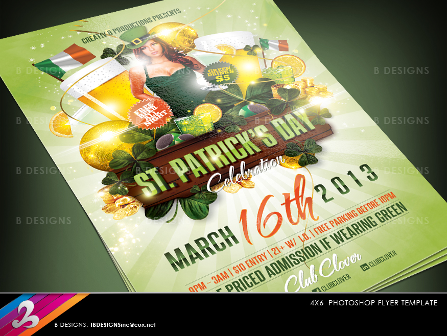 St Patricks Day Celebration Flyer by CreativB