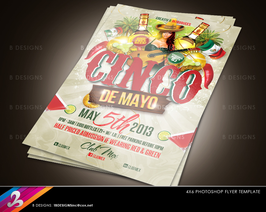 cinco de mayo party flyer template by anotherbcreation on deviantart