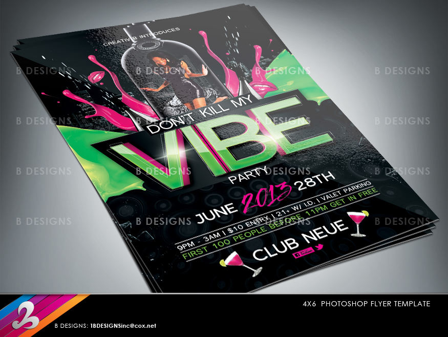 Vibe Party Flyer Template By Anotherbcreation On Deviantart
