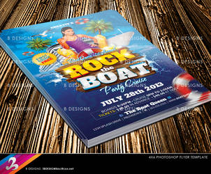 Boat Cruise Party Flyer Template by AnotherBcreation