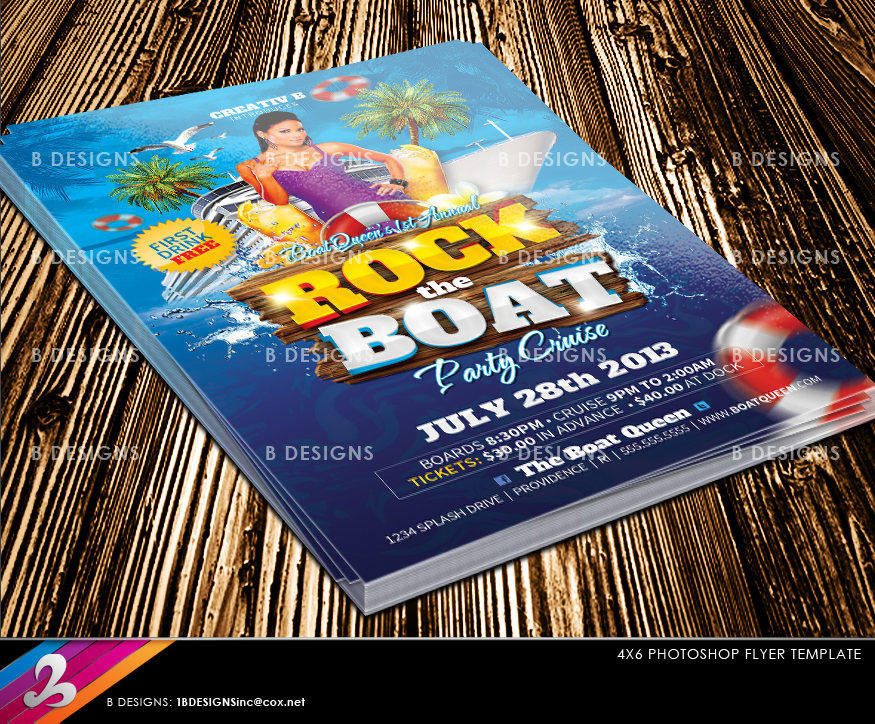 Images Of Yacht Party Flyer Template Golfclub