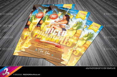 Diced Pineapples Ladies Night Flyer Template by AnotherBcreation