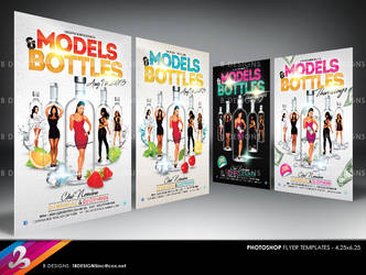 Models and Bottles Party Flyer Templates by AnotherBcreation