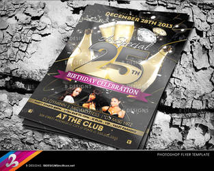 Birthday Flyer Template by AnotherBcreation