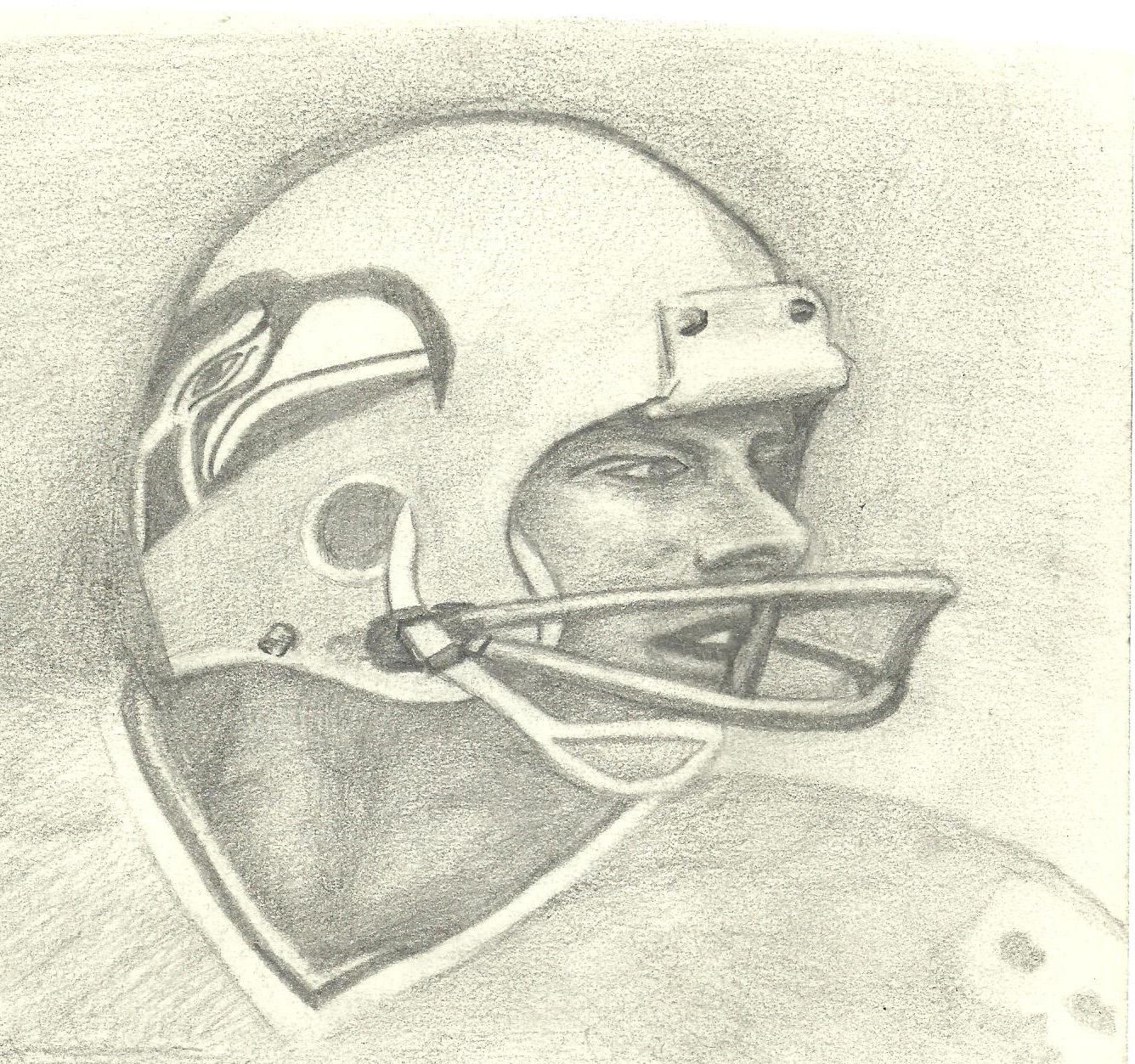 Steve Largent Sketch 001 by michaelmiller363