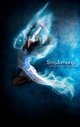 Stag Jumping by JustinBarbette