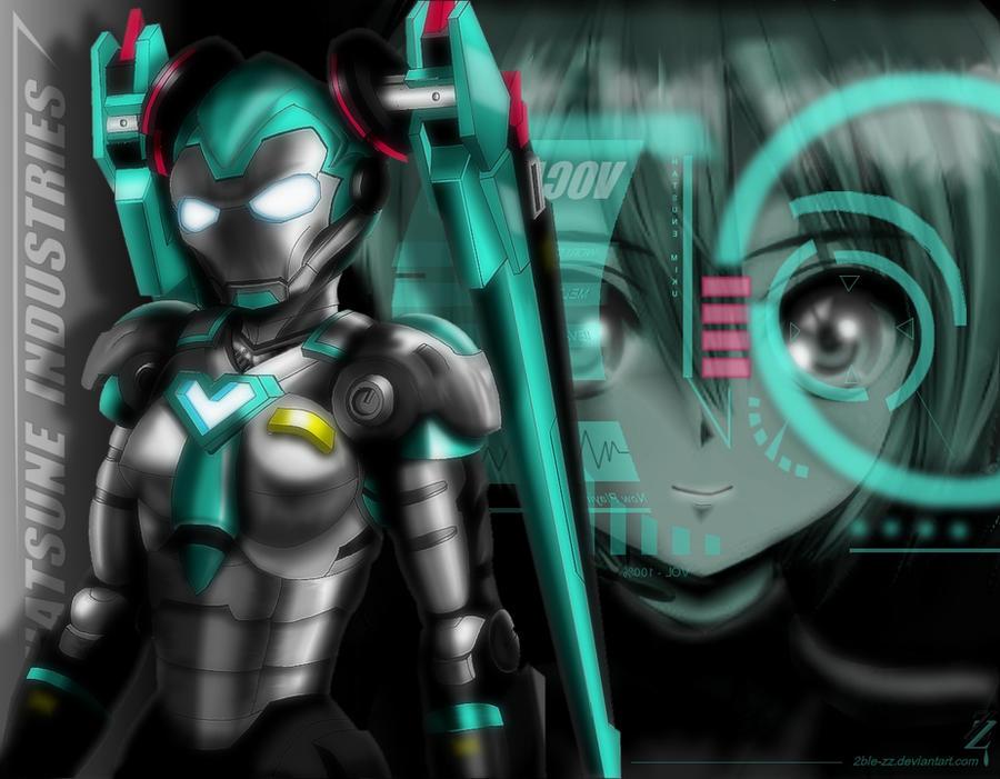 Hatsune Miku: Iron Miku by 2ble-ZZ