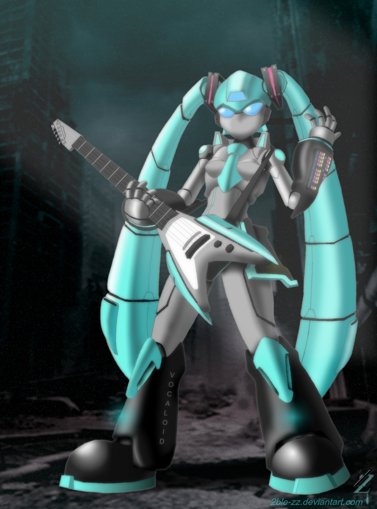 Hatsune Miku: Turquoise Songstress by 2ble-ZZ