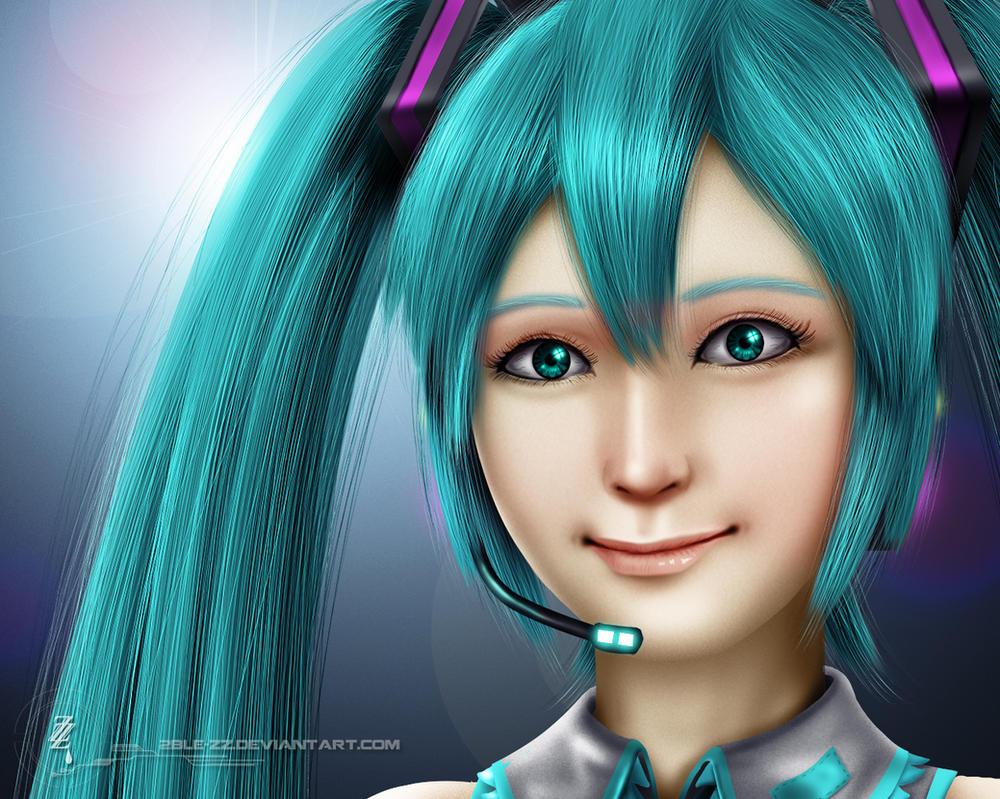 Hatsune Miku by 2ble-ZZ