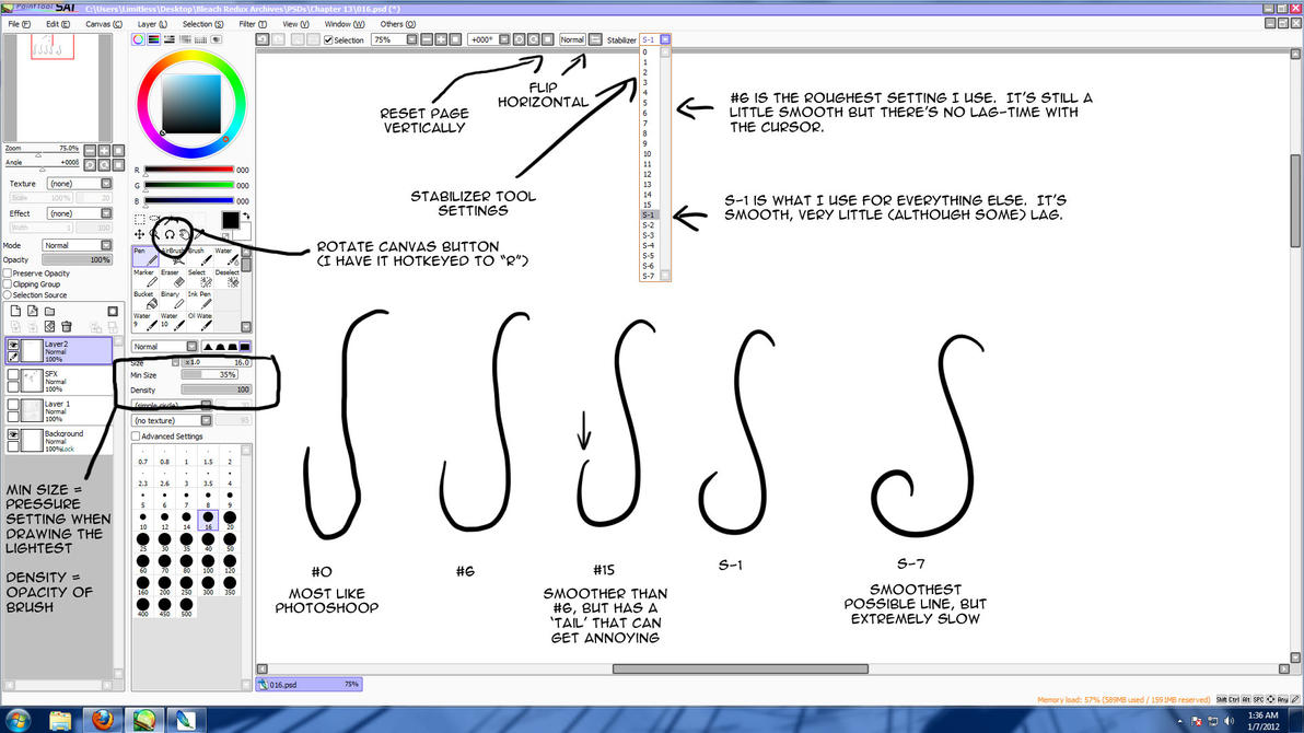 Drawing Smooth Lines : Anime tutorials paint tool sai tips smooth lines