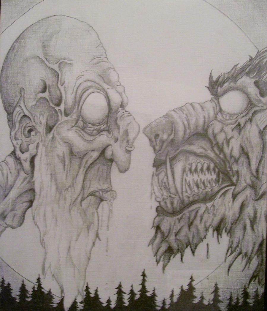 Vampire vs Werewolf by Tbonecurrie on DeviantArt