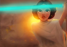 Princess Leia Fanart by cennie