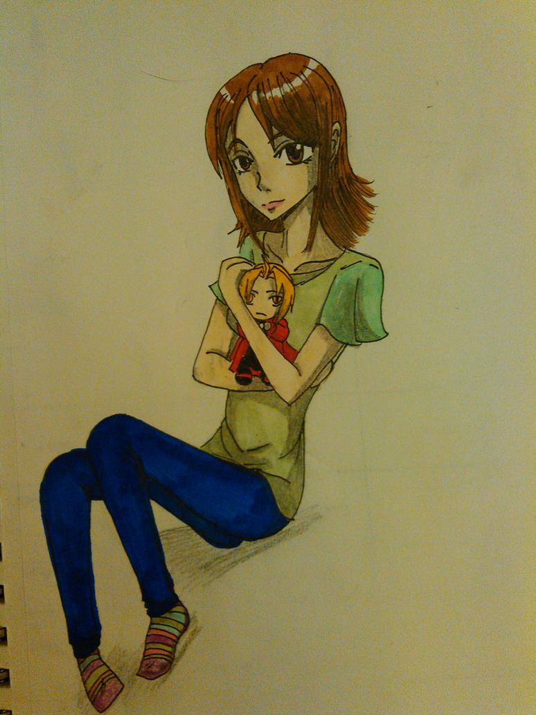 anime me with Ed plush by atem15