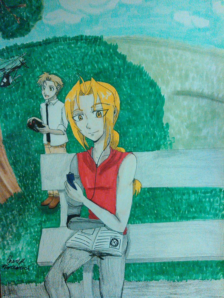 sunny day at the park by atem15
