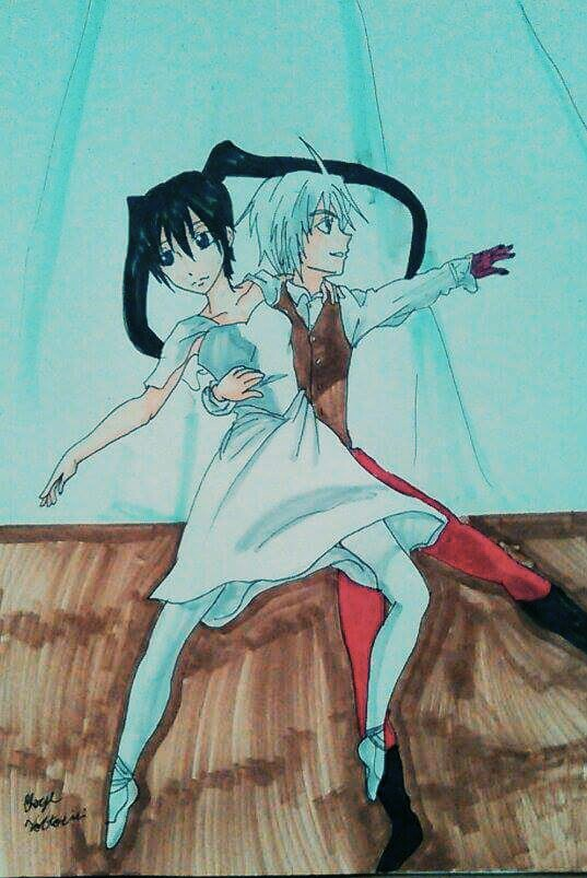 Allen and Lenalee do ballet by atem15