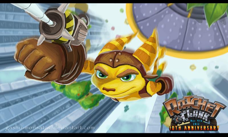 Ratchet and Clank- Swing it! by Gashu-Monsata