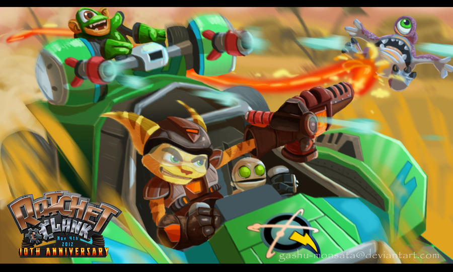 Ratchet and Clank- Drive It! by Gashu-Monsata