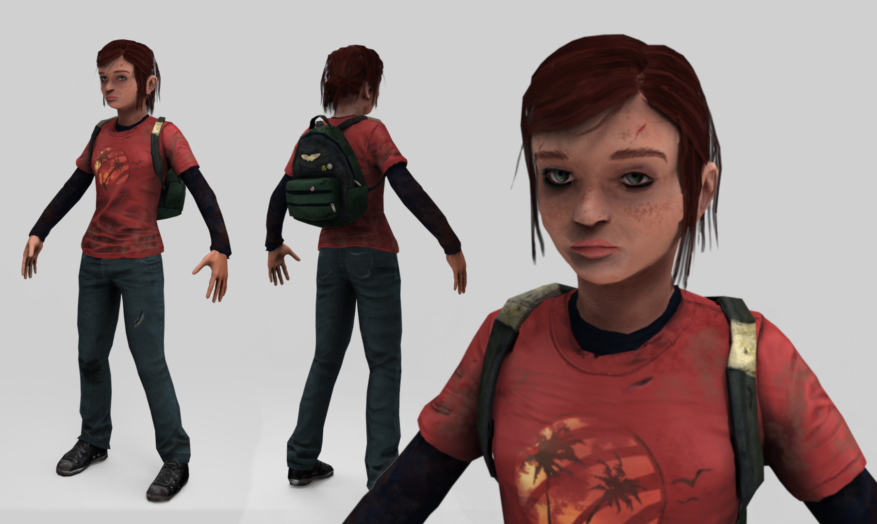 Last of Us- Ellie Model Render by Gashu-Monsata