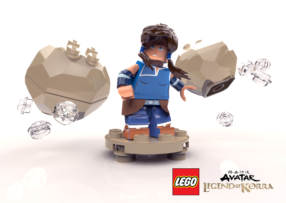 LEGO Korra Minifig by Gashu-Monsata