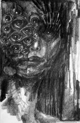 Girl with eyes eye by mboli
