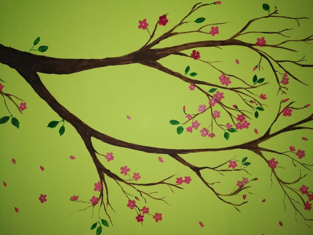 Sakura - Wall painting by orenjisakura87