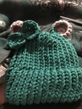 Baby Green Bear Beanie