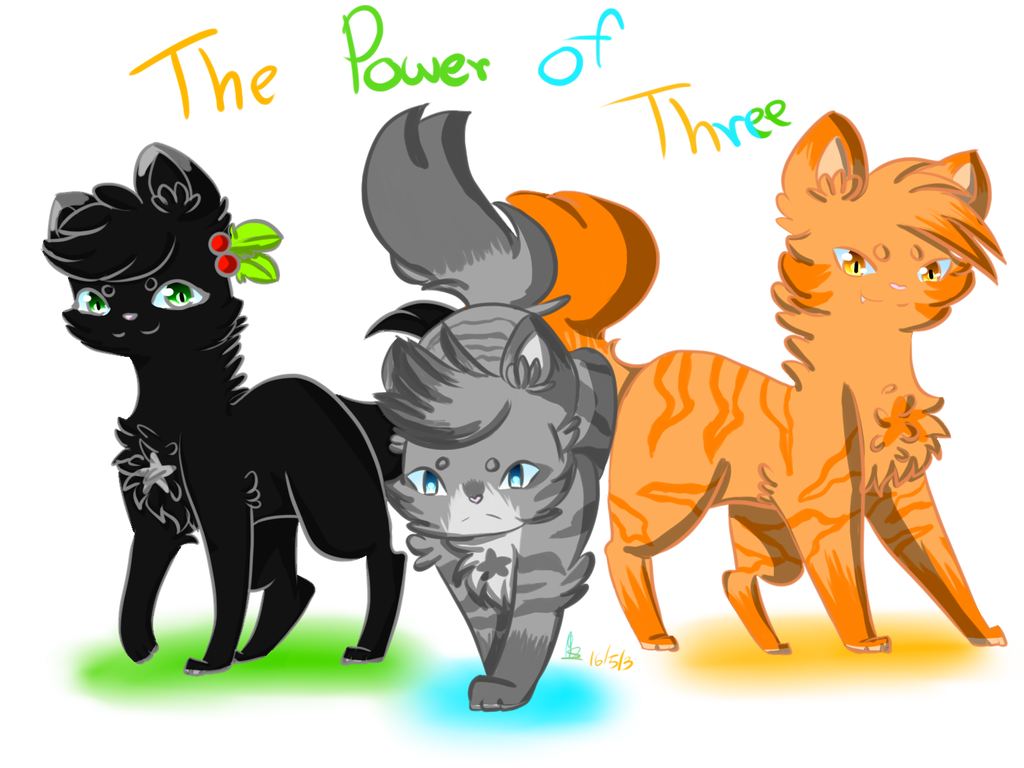 The power of three warrior cats by neko love156 on The three cats