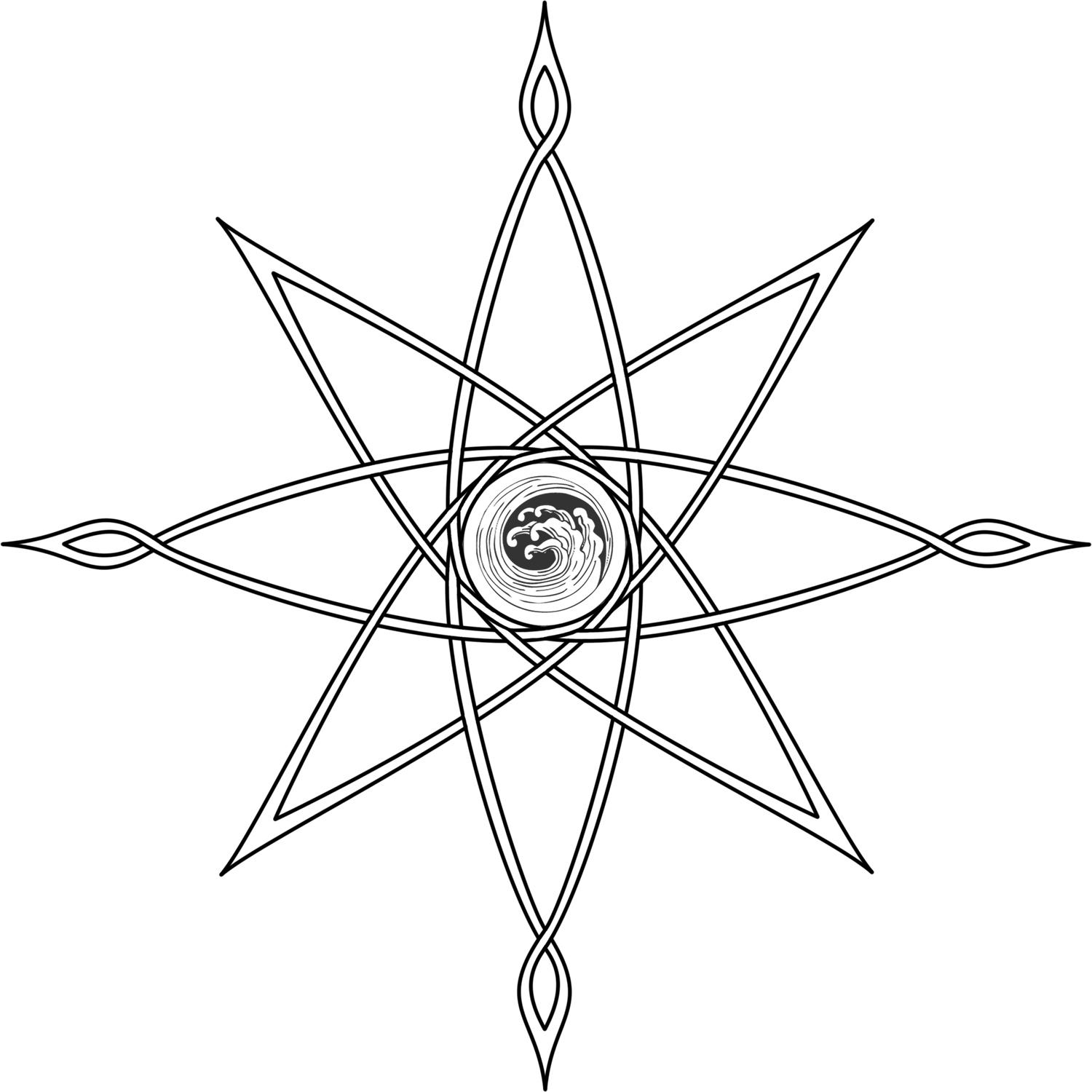 Compass Tattoo Line Drawing : Compass rose by midnightlynx on deviantart