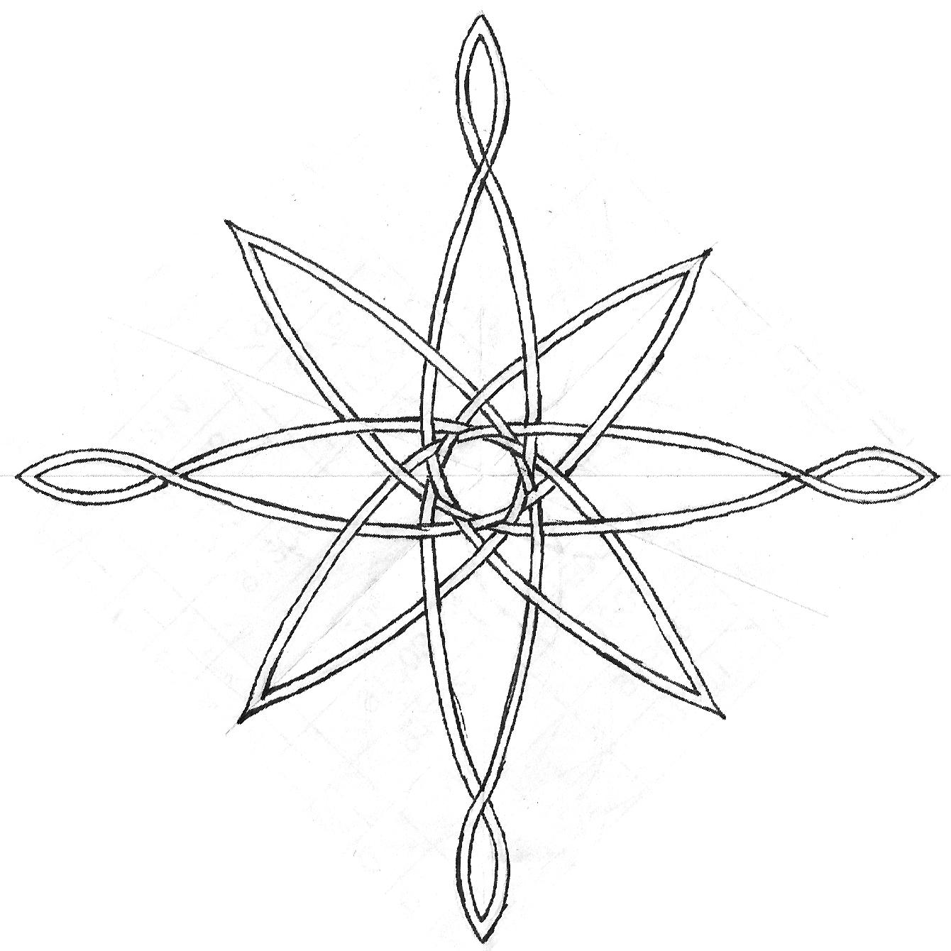 Compass Tattoo Line Drawing : Compass rose sketch by midnightlynx on deviantart