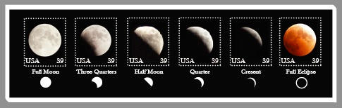 Lunar Eclipse Stamps by ViajeInfinito