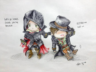 Evie and Jacob Frye by ZephyrosSkyress