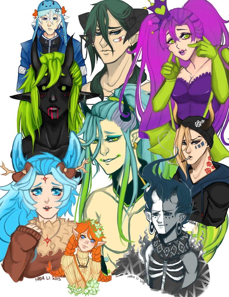 2nd Term 2015 Sketch Dump by Nadao