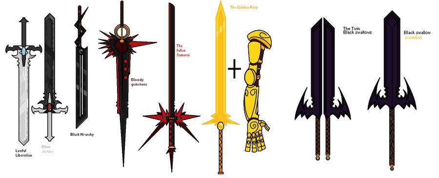 Tora's demon hunting swords by tora44 on DeviantArt