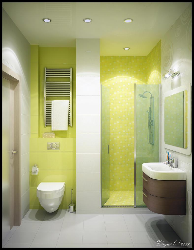Green Bathroom by Dryui
