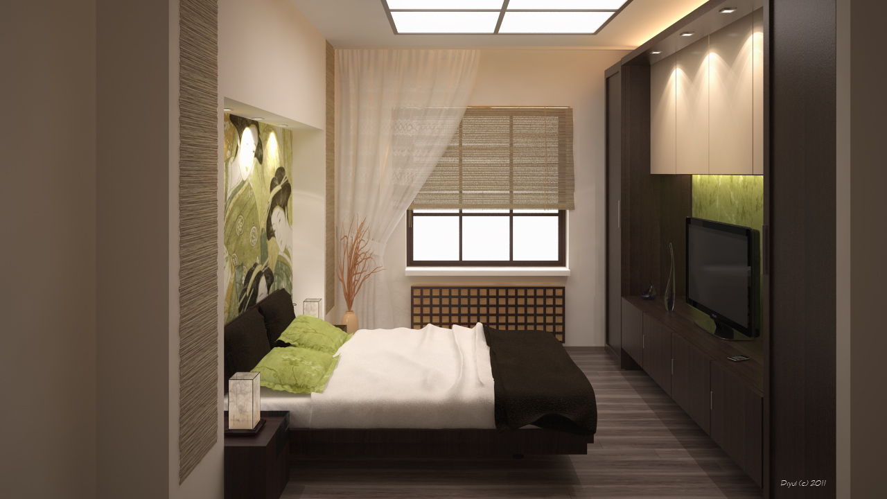 Japanese style bedroom by dryui on deviantart for Modern small bedroom interior design