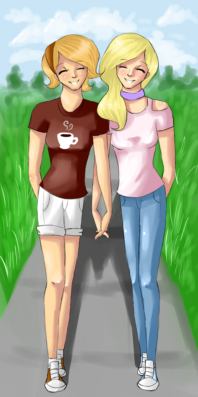 {Commission} Coffee and 'Dite for ElectricCoffee by HalChroma